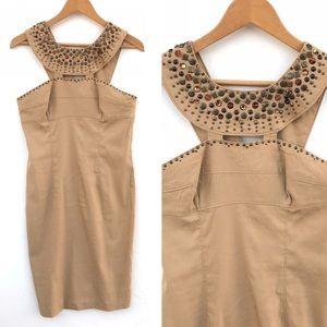 ADRIANNA PAPELL  Tan Dress